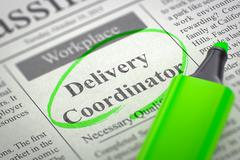 Delivery Coordinator Join Our Team Stock Illustration