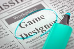 We are Hiring Game Designer - stock illustration