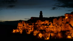 Medieval town of Pitigliano on the cliff, Tuscany, Italy Stock Footage