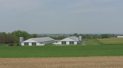 Field and Farm Pan Stock Footage
