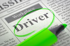 We are Hiring Driver - stock illustration