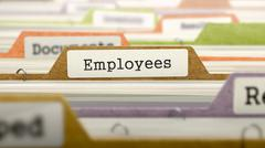 Employees Concept on Folder Register - stock illustration