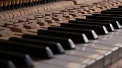 Mechanism Piano Stock Footage