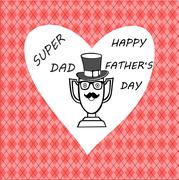 Happy father day greeting card Stock Illustration