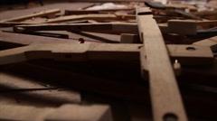 Piano Keys - stock footage