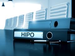 HiPo on Ring Binder. Blurred Image - stock illustration
