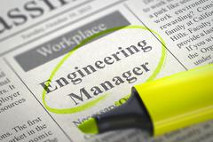 Now Hiring Engineering Manager Stock Illustration