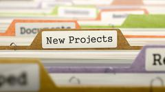 New Projects on Business Folder in Catalog - stock illustration