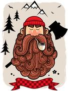 Lumberjack - stock illustration