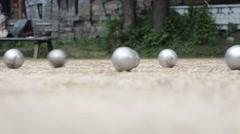 Petanque Balls Stock Footage