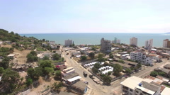 View of Pacific Ocean from Bahia de Caraquez Stock Footage