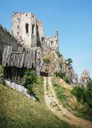 Beckov castle ruins, Slovak republic, Europe, travel destination Stock Photos