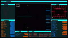 Futuristic digital interface screen - stock footage