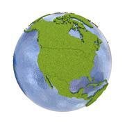 North America on planet Earth - stock illustration