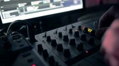 Remote DJ close-up Stock Footage