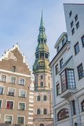 Riga Saint Peters Church Stock Photos