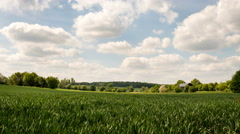 English rural farm scene with time lapse clouds and sunlight - stock footage