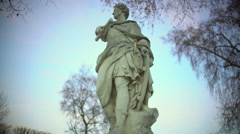 Statue of Roman Emperor Julius Caesar near Louvre in Paris, sightseeing tour Stock Footage