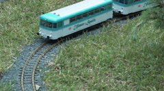 Toy trains in the Park 5 - stock footage