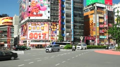 Tokyo - Traffic at junction. 4K resolution. Shinjuku Stock Footage
