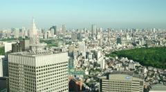 Tokyo aerial city view. Shinjuku. 4K resolution speed up Stock Footage