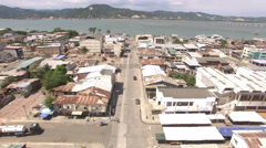 Bahia de Caraquez towards the Bay Stock Footage