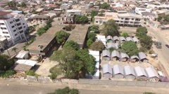 Temporary Housing for Earthquake Victims in Bahia de Caraquez Stock Footage