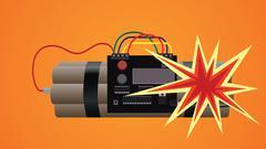 bomb dynamite explosion illustration - stock illustration