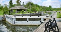 The Historic Ottawa Locks On A Beautiful Summer's Day Stock Footage