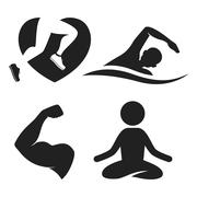 Fitness elements and logos Stock Illustration