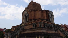 Chedi Luang Temple. - stock footage
