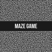 Labyrinth Background. Maze Game Concept. - stock illustration