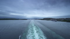 Hurriedly by sea by boat along the fjords-timelapse Stock Footage