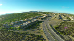 Aerial Spin Above New Mexico Neighborhood Stock Footage