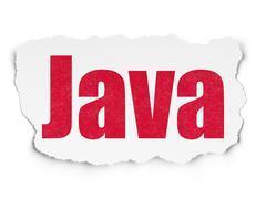 Software concept: Java on Torn Paper background Stock Illustration