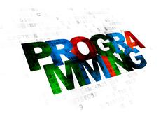 Programming concept: Programming on Digital background Stock Illustration
