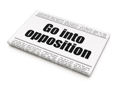 Political concept: newspaper headline Go into Opposition - stock illustration