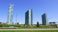 Three High-rise Buildings - stock footage