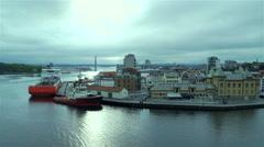 Stavanger Norway High viewpoint Stock Footage