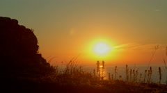 Beautiful sunrise time lapse above the sea, HDR RAW shots Stock Footage