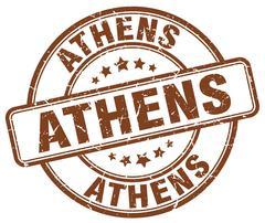 Athens brown grunge round vintage rubber stamp Stock Illustration