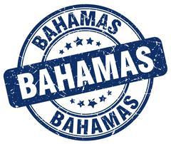 Bahamas blue grunge round vintage rubber stamp Stock Illustration