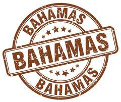 Bahamas brown grunge round vintage rubber stamp Stock Illustration