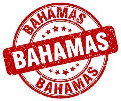 Bahamas red grunge round vintage rubber stamp Stock Illustration
