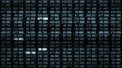 A data grid of streaming numbers - Data Storm 0586 HD, 4K Stock Video Stock Footage