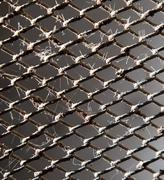 rusty metal grid as a background. texture - stock photo