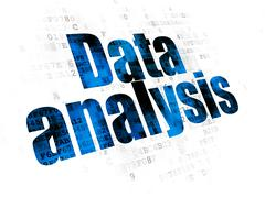 Data concept: Data Analysis on Digital background Stock Illustration