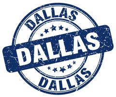 Dallas blue grunge round vintage rubber stamp Piirros