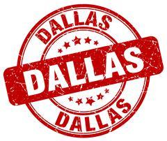 Dallas red grunge round vintage rubber stamp Piirros