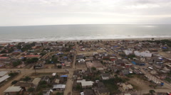 Flying away from the Coast at Canoa Stock Footage